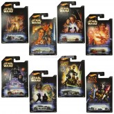 2014 Hot Wheels Star Wars 8 cars 1:64 FULL SET Walmart exclusives