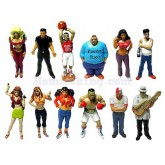 BORICUAS PUERTO RICANS RARE COLLECTION SET OF 12 DIFFERENT FIGURES